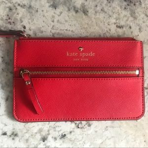 Kate Spade Cherry Red Wristlet